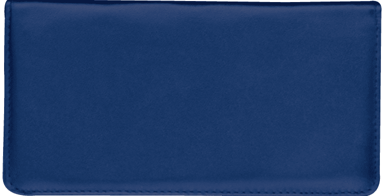 Navy Checkbook Cover - click to view larger image