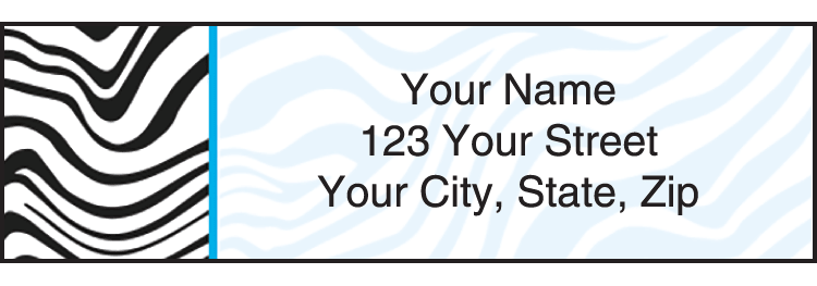 Enlarged view of neon safari address labels
