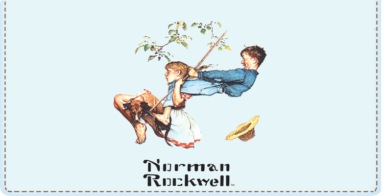 Norman Rockwell Checkbook Cover