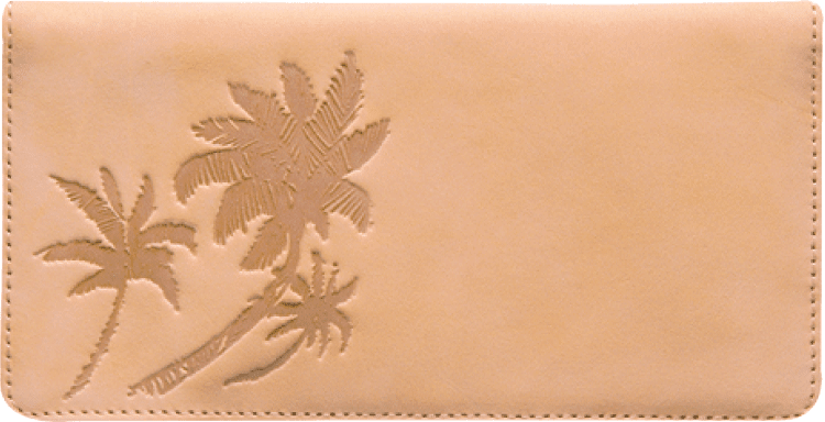 Palm Trees Checkbook Cover