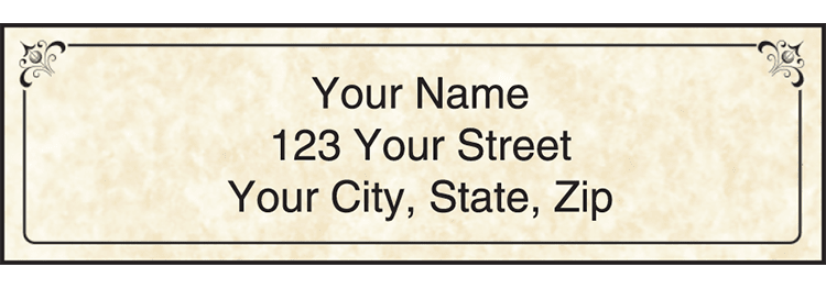 Parchment Address Labels with Monogram