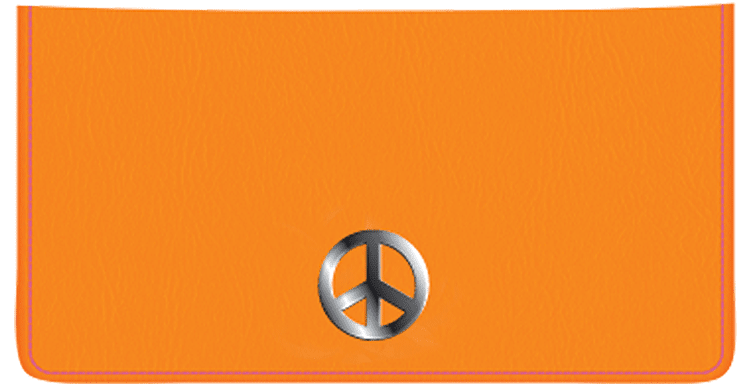 Peace Checkbook Cover - click to view larger image