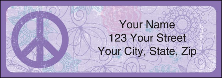 Peace Address Labels