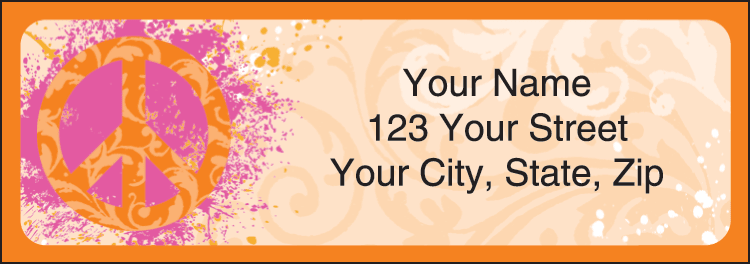 Peace Address Labels - click to preview