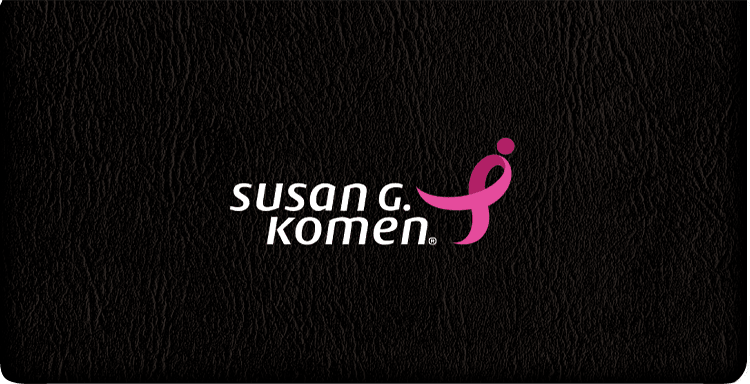 Susan G. Komen Checkbook Cover - click to view larger image