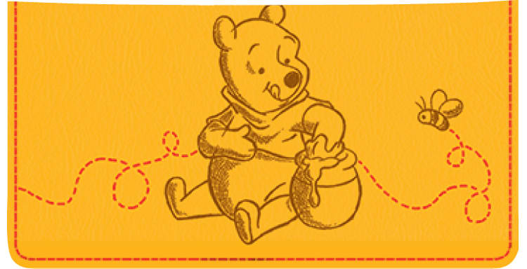 Disney Pooh & Friends Checkbook Cover - click to view larger image