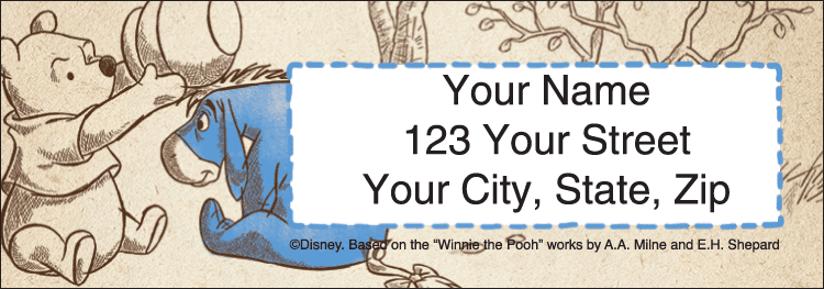 Disney Pooh & Friends Address Labels - click to preview