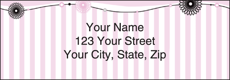 Pretty in Pink Address Labels