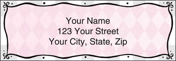Pretty in Pink Address Labels - click to preview