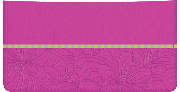 Psychedelic Checkbook Cover - click to view larger image