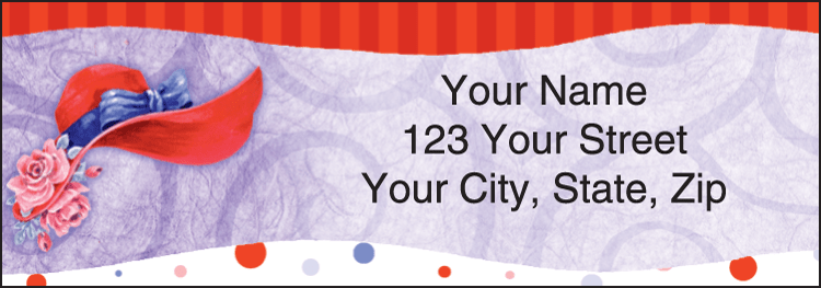 Red Hat Revue Address Labels - click to view larger image