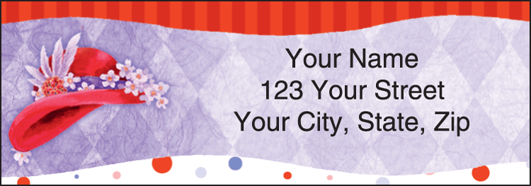 Red Hat Revue Address Labels - click to preview