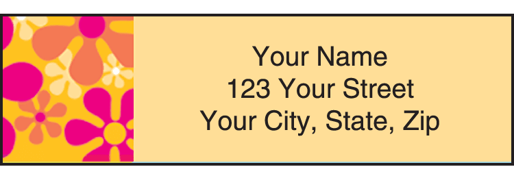 Retro Graphics Address Labels - click to preview