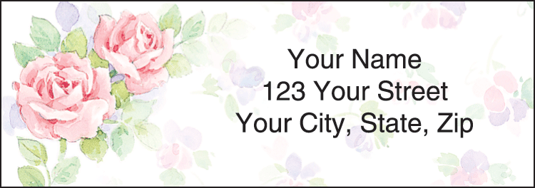 Rosewood Address Labels - click to view larger image