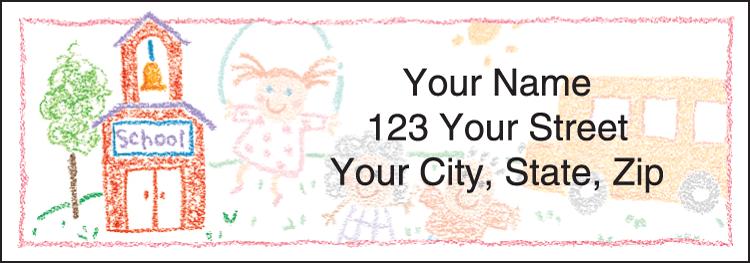 School Memories Address Labels