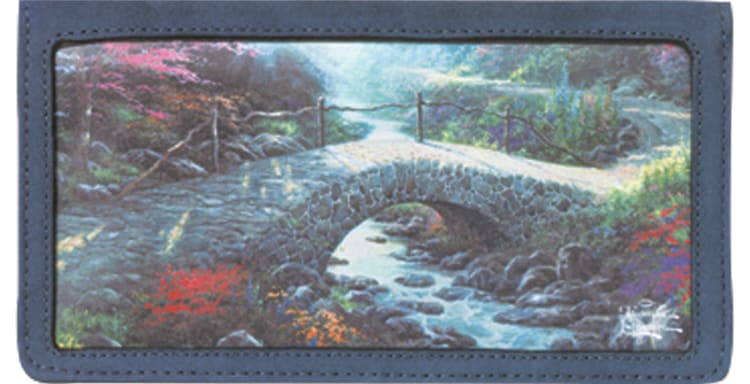 Enlarged view of Serenity by Thomas Kinkade Checkbook Cover