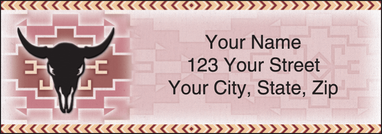 Enlarged view of Shades of the Southwest Address Labels