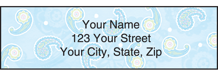 Enlarged view of Simply Paisley Address Labels