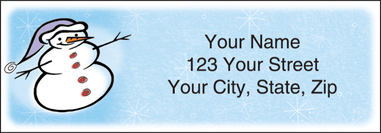 Snow Days Address Labels