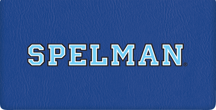 Enlarged view of spelman college checkbook cover