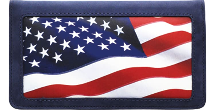 Enlarged view of Stars & Stripes Checkbook Cover