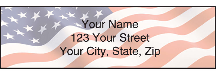 Stars & Stripes Address Labels - click to view larger image