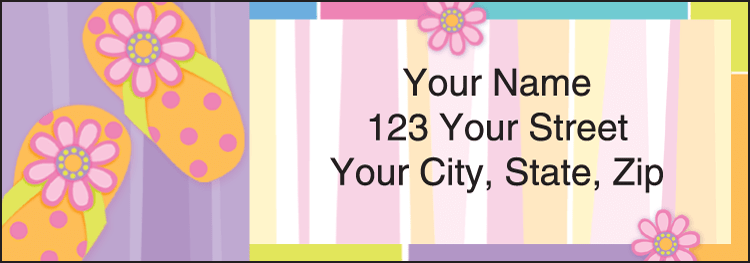 Sunny Days Address Labels