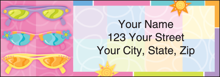 Sunny Days Address Labels - click to preview