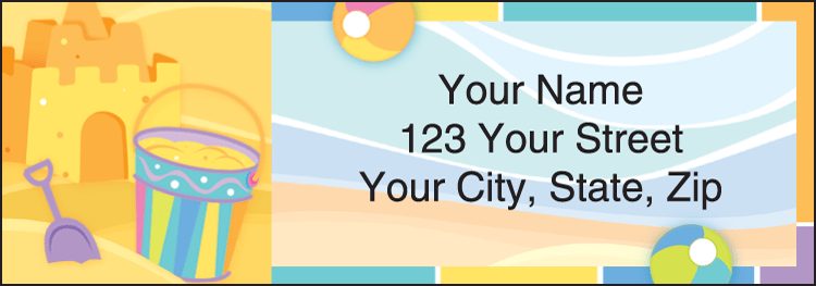 Enlarged view of Sunny Days Address Labels