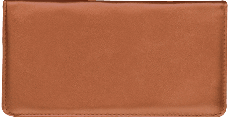 Tan Side Tear Checkbook Cover - click to view larger image