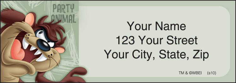 Enlarged view of Taz Address Labels