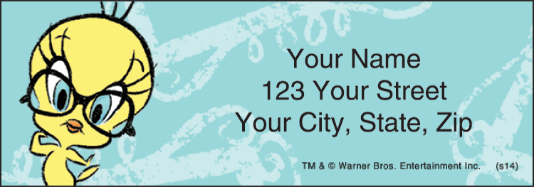 Totally Tweety Address Labels - click to view larger image