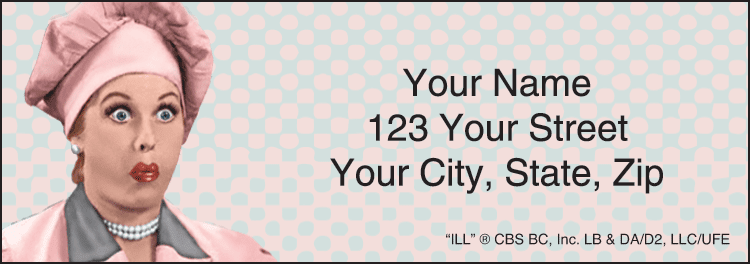 Vintage Lucy Address Labels - click to view larger image