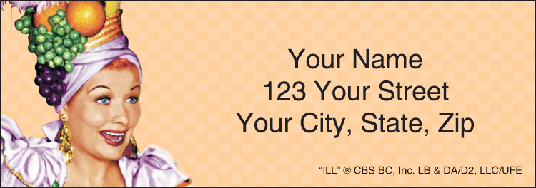 vintage lucy address labels - click to preview