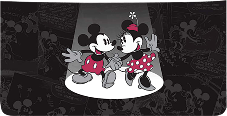 Disney Vintage Mickey and Minnie Side Tear Checkbook Cover - click to view larger image