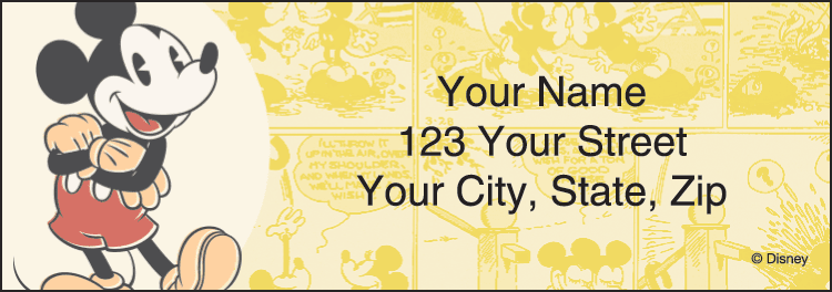 Disney Vintage Mickey Address Labels