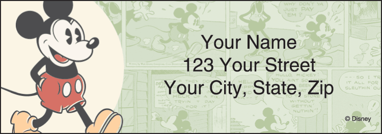 Disney Vintage Mickey Address Labels - click to preview