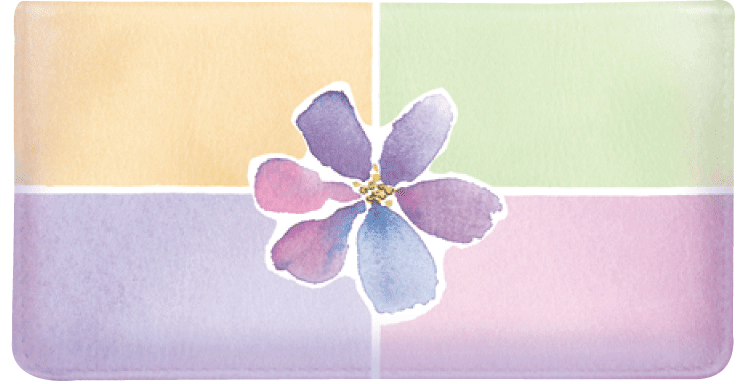 Watercolors Side Tear Checkbook Cover