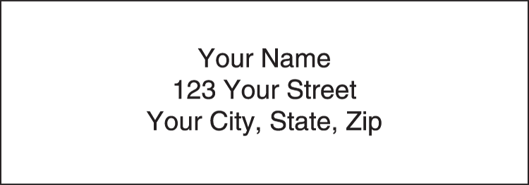 White Address Labels - click to view larger image
