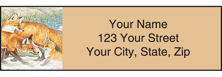 Wildlife Adventure Address Labels - click to preview