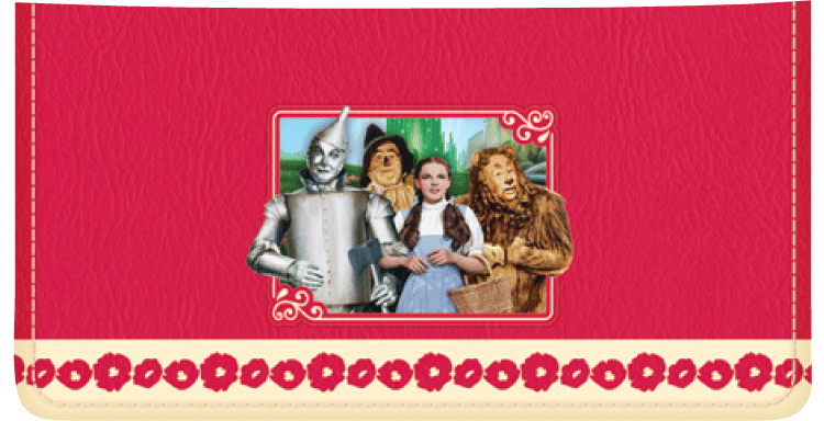 Enlarged view of the wizard of oz checkbook cover