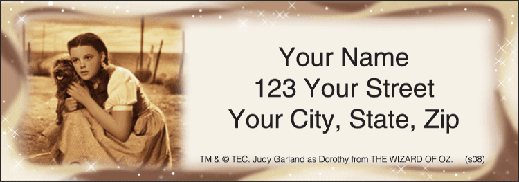 The Wizard of Oz Address Labels