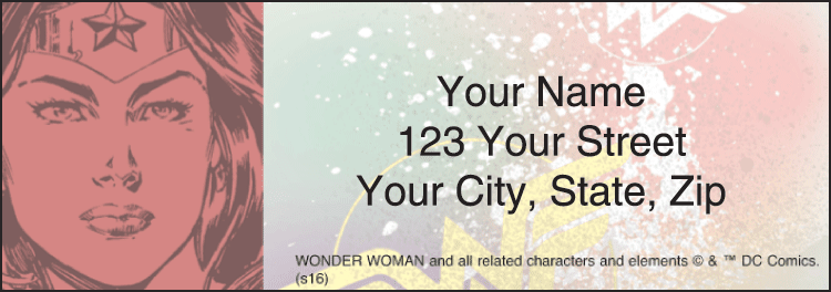 Wonder Woman Address Labels