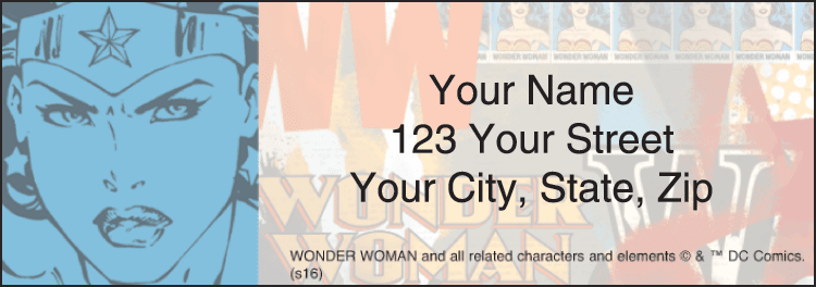 wonder woman address labels - click to preview