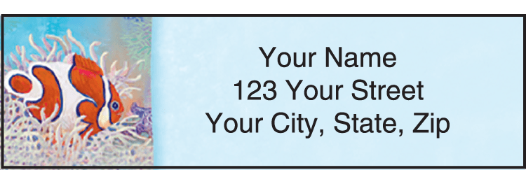 Wonders of the Sea Address Labels - click to view larger image