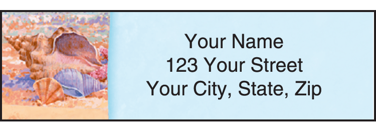 Wonders of the Sea Address Labels - click to preview