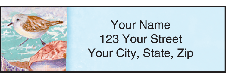 Enlarged view of wonders of the sea address labels