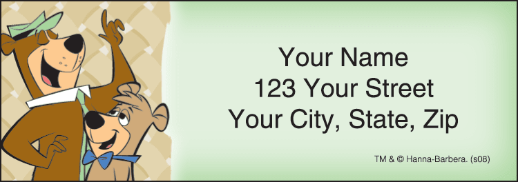 Yogi Bear Address Labels - click to preview