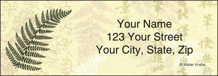 Enlarged view of Zen Address Labels