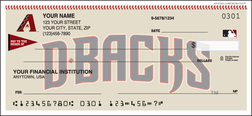 Arizona Diamondbacks¿ Checks - click to view larger image